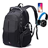Large Travel Laptop Backpack, Anti Theft 17 Inch Bags with USB Charging Port for Men&Women,TSA Friendly Computer Backpack with Luggage Sleeve
