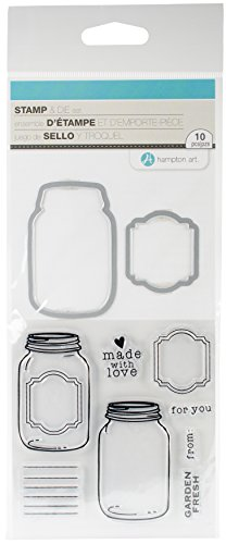 (Hampton Art SC0769 Hot Fudge Stamp & Die Set, Made with Love)
