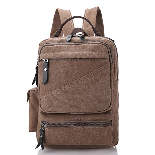 FHGJ Canvas Travelling Backpack Rucksack Laptop Bag Satchel Hiking Travelling Bag,A