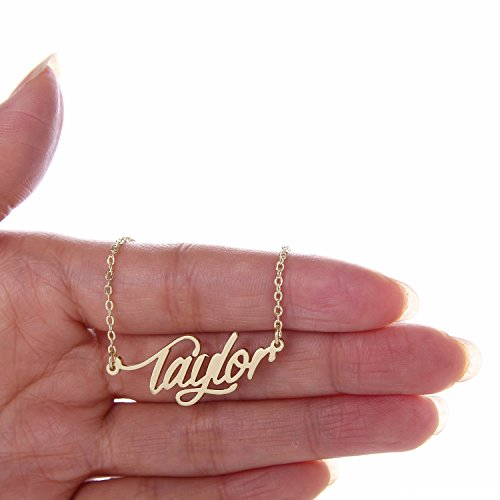 Image of the Huan XUN Gold Plated Named Calligraphy Best Friend Necklaces, Taylor