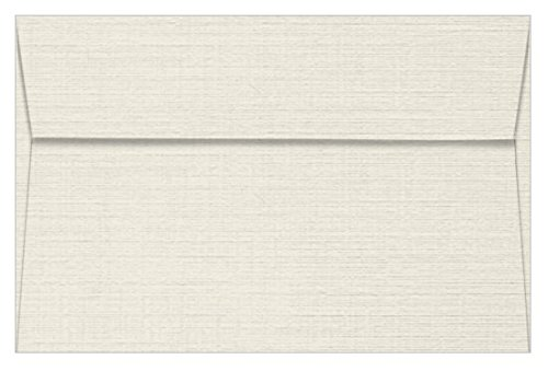 A9 Classic Linen Antique Gray Envelopes - Straight Flap, 80T, 1000 Pack