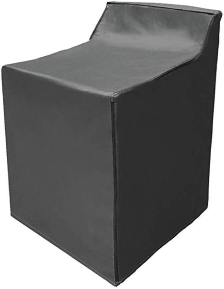 Lavadora Prueba Polvo Prueba Agua Cubierta Tela Oxford Balcón Casero Lavadora Bbaño Secadora Cubierta Polvo Accesorios para lavadora (gris/negro)(negro)