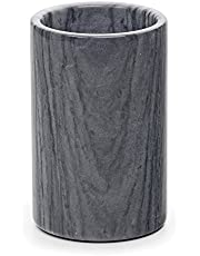 """RSVP International Grey Marble Cooler, 4.5"""" x 7""""   Use with Champagne, Wine, Beer, Kitchen Tools & More   Keeps Drinks Cold in Elegance, One Size"""