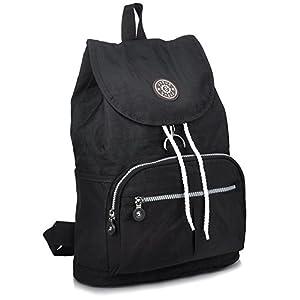 ZYSUN Fashion Travel School Backpacks LightWeight Bag for College Girls Womens(604,black)