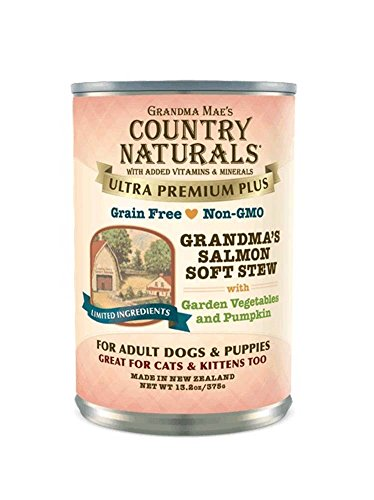 Grandma Mae'S 79700169 13.2 Oz Country Naturals Grandma'S Salmon Soft Stew Canned Dog Food, One Size ()