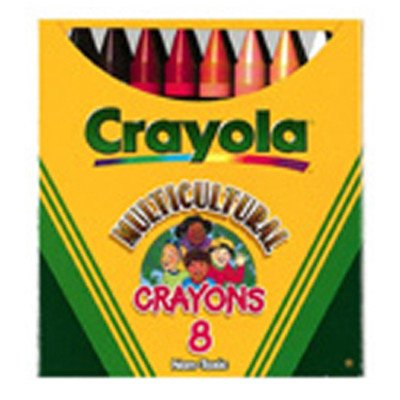 Multicultural Crayons Lrg 8-pk [Set of -