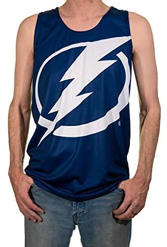 Calhoun Men's NHL Performance Tank Top (Tampa Bay Lightning, Medium)