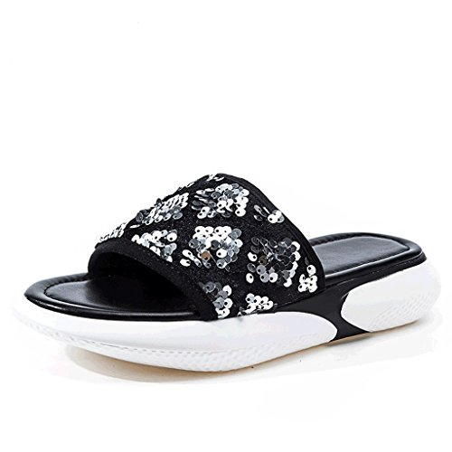 Fashion Slippers Wear Sequined 5 Female Outer Womenn Summer Size Sandals 4 EqBTn