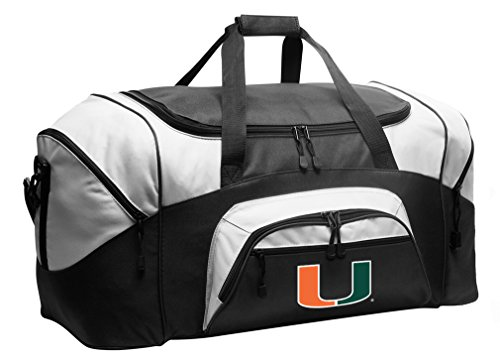 Ncaa Miami Hurricanes Canes - Large Miami Canes Duffel Bag University of Miami Suitcase or Gym Bag for Men Or Her