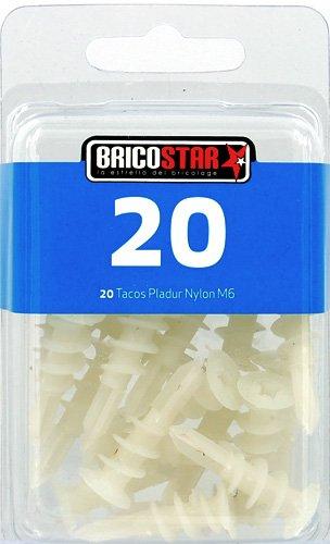 Set 20 pcs Tacos pladur m6 Bricostar