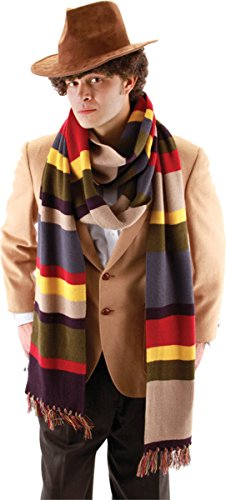 Dr Doom Costume Adults (Morris Costumes Men's DOCTOR WHO 4TH DR. LONG SCARF, 12 feet)