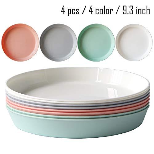 8pcs/9.3inch Dishwasher & Microwave Safe PP Plates - Lightweight &...