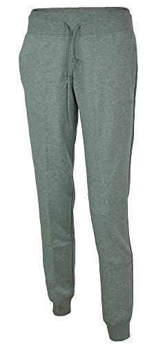 adidas Womens Jog Pant Essential Cuffed Fleece Tracksuit Bottoms Joggers Grey New S89331 (M)