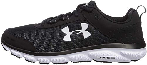 Under Armour mens Charged Assert 8 Running Shoe, Black/Black, 10.5 US