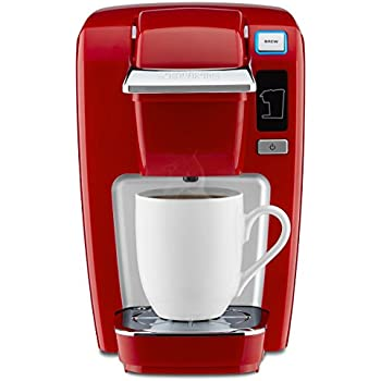 Keurig K15 Single Serve Compact K-Cup Pod Coffee Maker, Chili Red