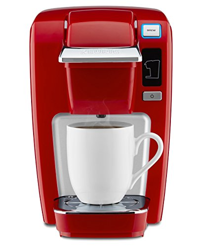 Keurig K15 Coffee Maker, Single Serve K-Cup Pod Coffee Brewer, 6 to 10 Oz. Brew Sizes, Chili Red