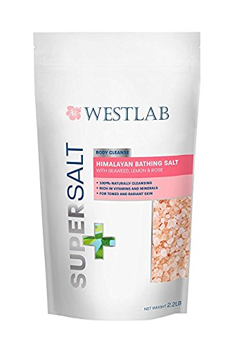 100% Pure Purifying Seaweed - Himalayan Salt SuperSalt Cleansing, Detoxing & Toning with Seaweed, Lemon, and Rose (2.2 lb Bag)