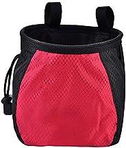 Rock Climbing Powder Chalk Bag Drawstring Closure Non-Slip Powder Storage Pouch for Gymnastics Weightlifting B