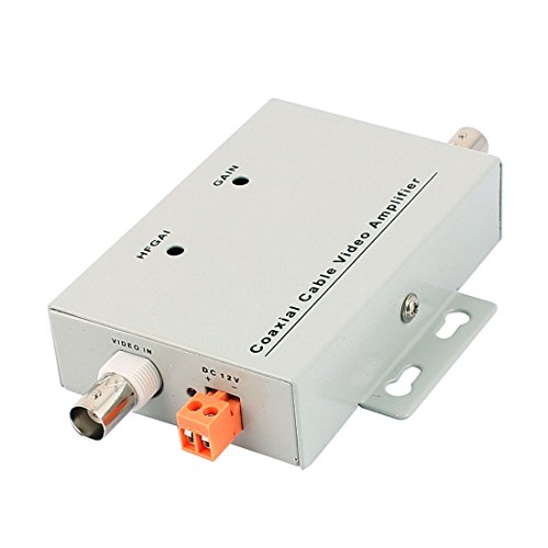 uxcell CCTV Camera Signal Booster BNC Coaxial Cable Video Amplifier for CCTV Camera - Coaxial Cable Video Amplifier