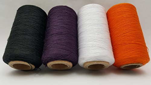4 Tubes Spun Polyester Serger, Quilting & Sewing Thread 4 Tubes 1000 Yds. Each - HALLOWEEN Thread!