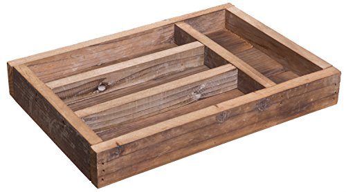 Red Co. Rustic Reclaimed Wood, Storage Organizer Container, Jewelry and Silverware Tray, 14-inch by Red Co.