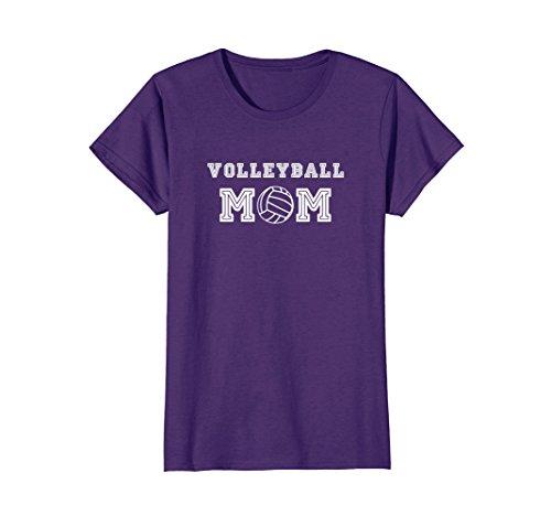 Womens Volleyball Mom T-shirt Medium Purple