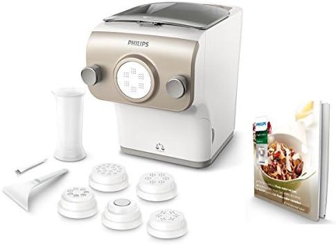 Philips Pastamaker Avance CollectionGentegreerde weegschaalVolledig automatisch6 Verschillende soorten pasta23 porties binnen 10 minutenMet receptenboekjeWitHR238105