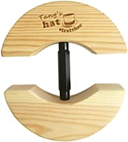 Tang's Wooden Hat Stretcher One Size Unisex Adults Hat Shaper with Adjustable Turnbuckle Suits for All