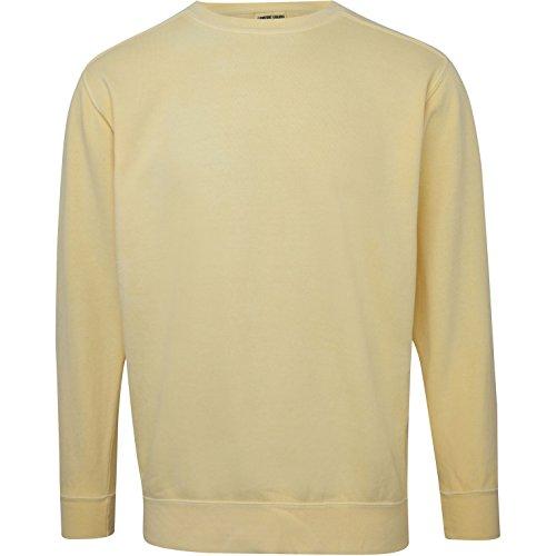 Comfort Colors Mens Crew Neck Sweatshirt (3XL) (Butter) ()