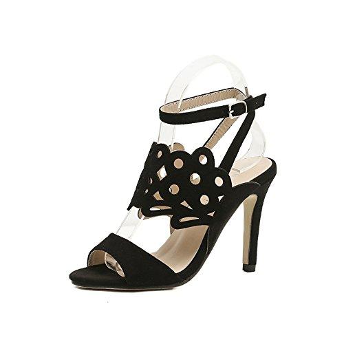 sandalo GAOLIXIA Black floccano Scarpe che altalena tacco con donna il da Jazz da Jazz OO7pxzf