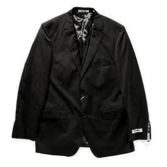 DKNY Men's Black Slim Fit Tonal Stripe Jacket 42R