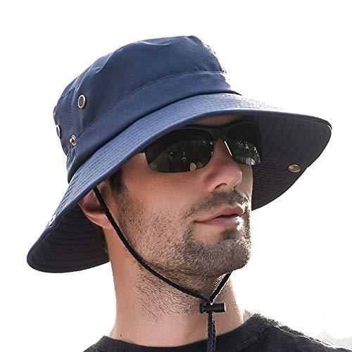 Boonie hat, Classic Army Style Boonie Bush Jungle Hat Safari Cap Outdoor Hunting Hat (0724 Dark Blue) - Boonie Hat Jungle
