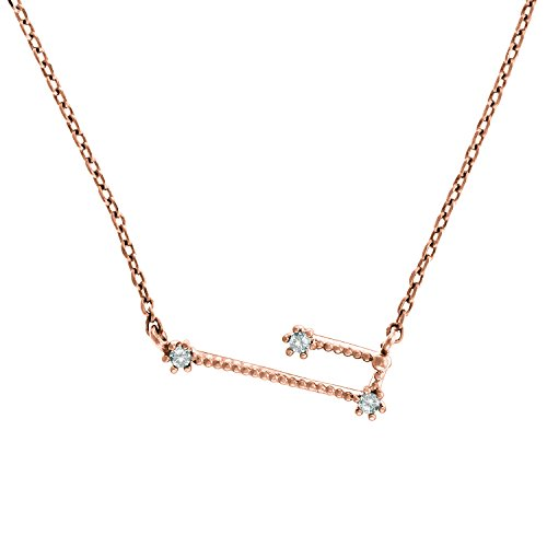 Pavoi 14K Rose Gold Plated Astrology Constellation Horoscope Zodiac Necklace 16 18    Taurus