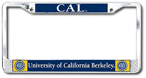Shop College Wear UC Berkeley Cal Dome License Plate- Chrome