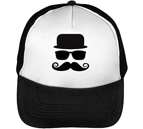 Hombre Beisbol Negro White Blanco Snapback Gentleman Gorras xwCqESBz7