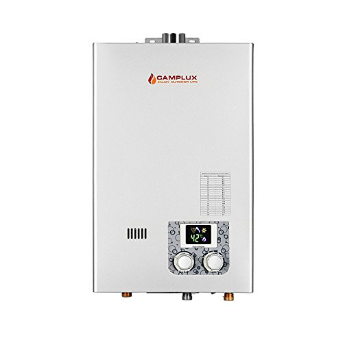 Camplux 10L 2.64 GPM High Capacity Color Screen Propane Tankless Water Heater - Propane Water Heater