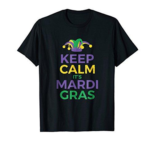 Keep Calm It's Mardi Gras Joker Hat Party T Shirt for $<!--$19.99-->