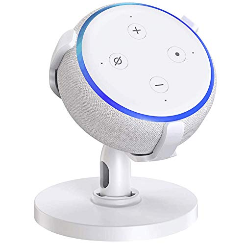 【Dot 3rd Generation Stand】Table Holder for Echo Dot 3rd Generation, 360° Adjustable Stand Bracket Mount, Space-Saving…