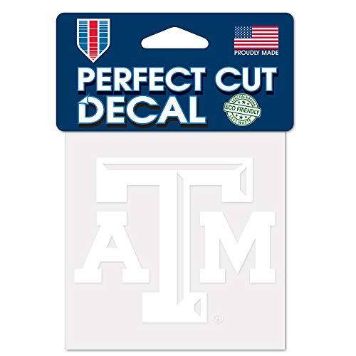 WinCraft NCAA Texas A&M Aggies 4x4 Perfect Cut White Decal, One Size, Team ()