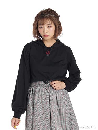 Ank Rouge (アンク ルージュ) ローズ刺繍ショートフーディ