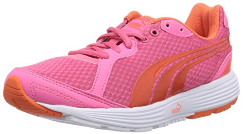 Puma Descendant Jr - Zapatillas de correr de material sintético infantil Pink (fluo pink-nasturtium 18)