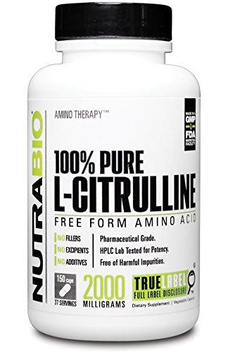 NutraBio 100 % Pure L-Citrulline