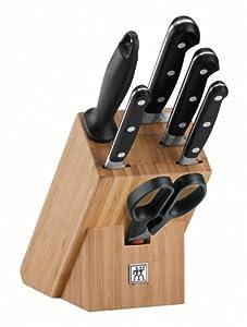 Zwilling Professional S Messerblock, Bambus, 7-tlg., 320 x 115 x 290 mm...