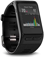 Garmin Vívoactive HR GPS Smart Watch, Regular fit - Black (Renewed)