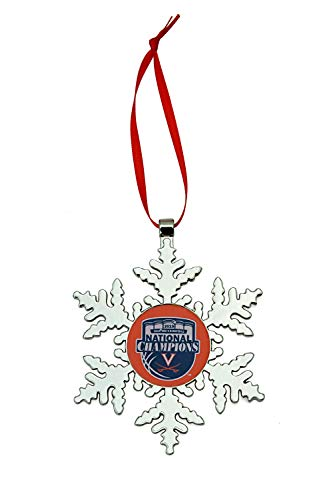 Collegiate Pulse UVA Virginia Cavaliers National Basketball Champions NCAA Snowflake Christmas Ornament ()
