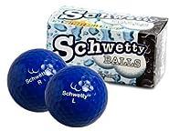 Pair of Schwetty Blue Balls Golf Balls by Schwetty