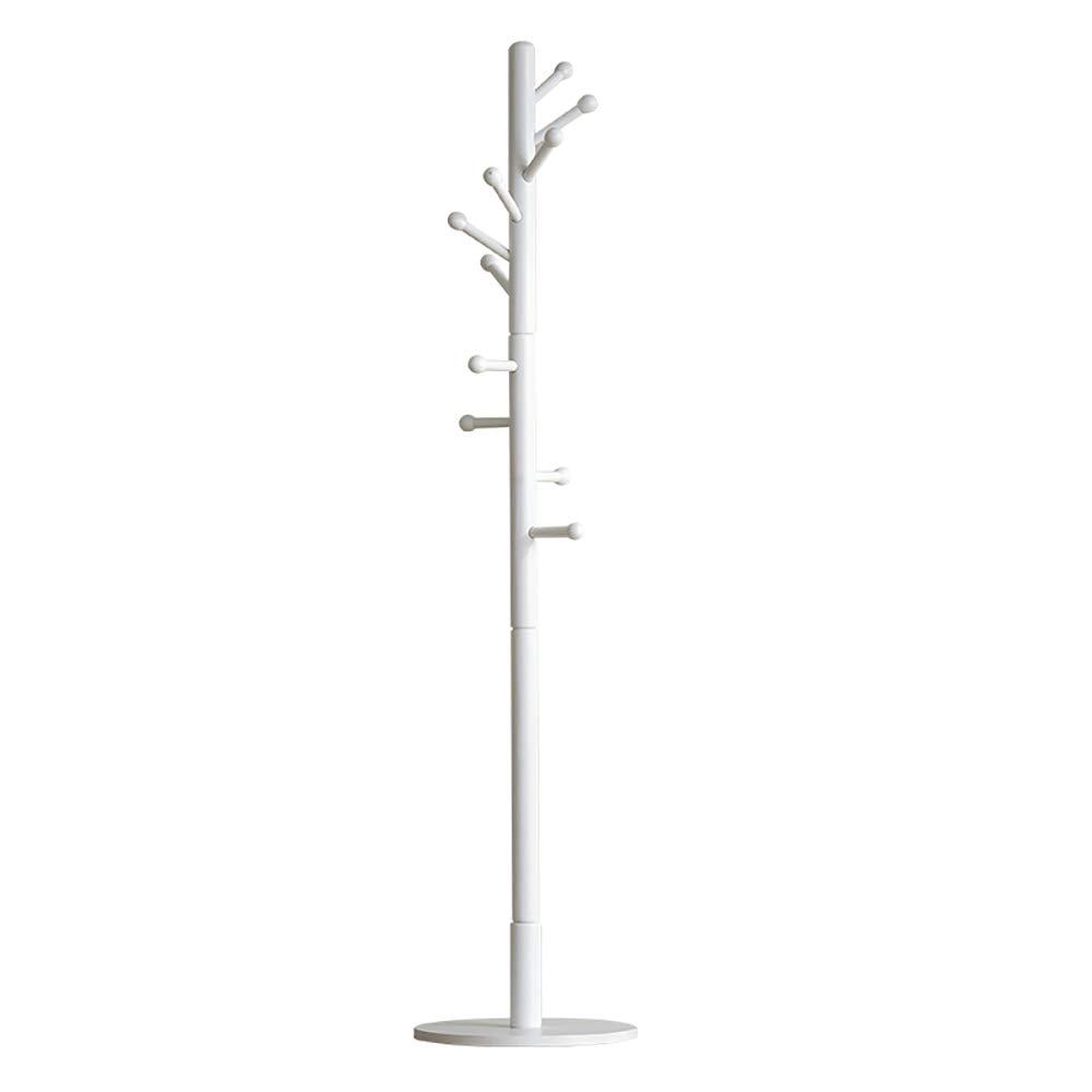 White Simple Floor Coat Rack Single-Pole Multi-Function Door Rack Living Room Bedroom Hanger D15.74H70.86 Inches