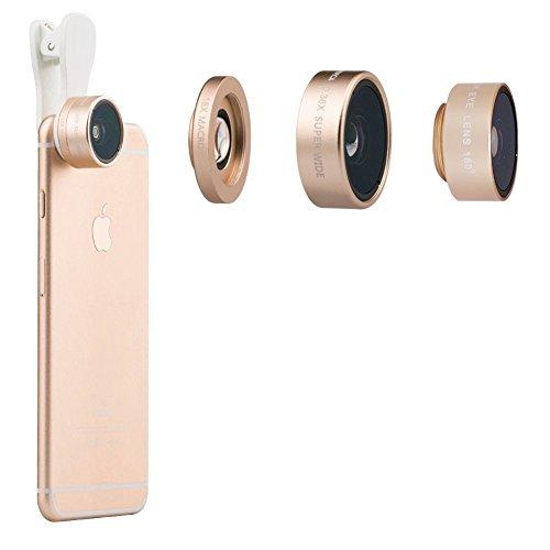 Universal Mobile Phone lens 3 in 1 Phone Lens (GOlden) - 5