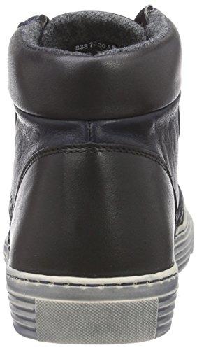 camel active Bowl 70 - zapatillas deportivas altas de piel mujer azul - Blau (denim/black/grey)