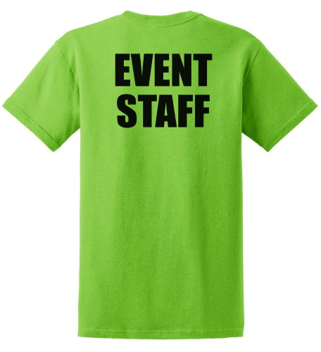 Event Staff T-Shirt in Lime Green- X-Large,Lime Green